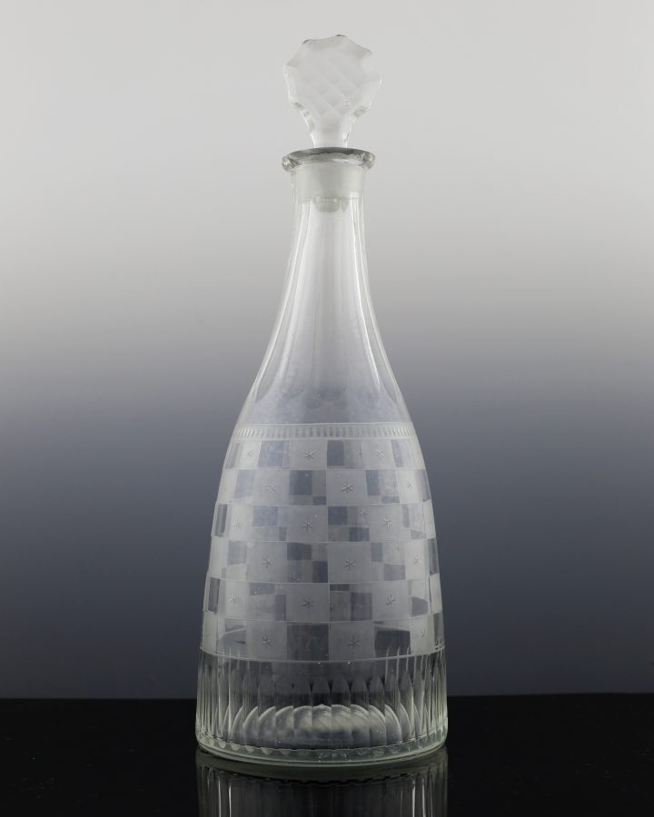 Georgian Checkerboard Decanter