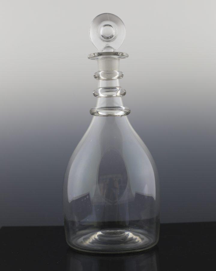 Plain Half Bottle 3 Ring Bullseye Stopper Decanter 1
